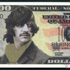 Billetes extranjeros: BILLETE DE 1 MILLON DE DOLARES - LOS BEATLES HOMENAJE A ( RIGO STARKEY ) Nº6. Lote 143123505
