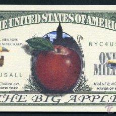 Billetes extranjeros: BILLETE DE 1 MILLON DE DOLARES - 11S HOMENAJE A LA ( GRAN MANZANA ) Nº1. Lote 62543352