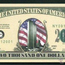 Billetes extranjeros: BILLETE DOLAR 2011 - 11S HOMENAJE A LAS ( TORRES GEMELAS ) Nº6. Lote 181357267