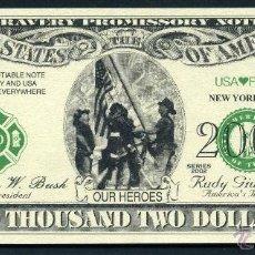 Billetes extranjeros: BILLETE DOLAR 2002 - PRIMER ANIVERSARIO DEL 11S HOMENAJE A LOS ( BOMBEROS ) Nº6. Lote 62457259