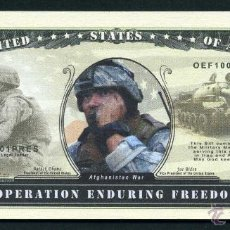 Billetes extranjeros: 1 MILLON DE DOLARES DEL 2001 - GUERRA DE AFGANISTAN - LIBERTAD DURADERA AFGANISTAN -IRAQ - Nº4. Lote 52689343