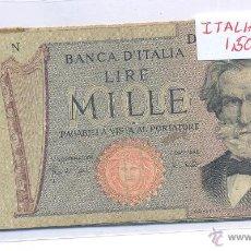 Billetes extranjeros: BILLETE ITALIA LIRE MILLE CIRCULADO. Lote 43129724
