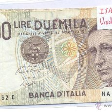 Billetes extranjeros: BILLETE ITALIA 2000 LIRE DUEMILA CIRCULADO. Lote 43129770