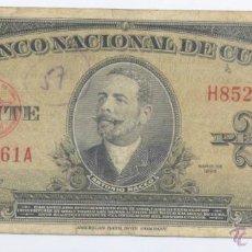 Billetes extranjeros: CUBA- 20 PESOS- 1958. Lote 43272211