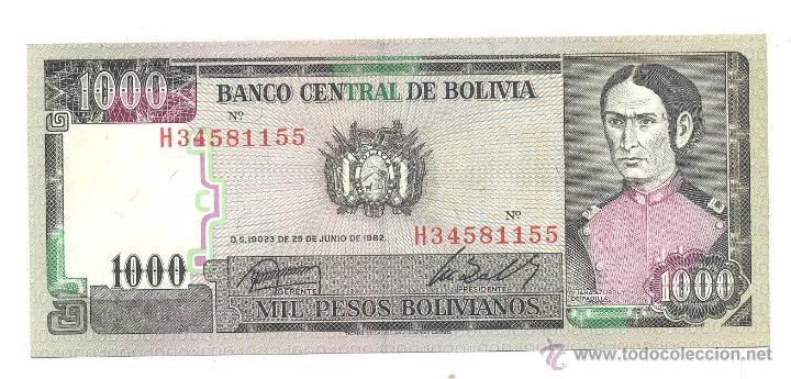 BILLETE BOLIVIA (Numismática - Notafilia - Billetes Extranjeros)