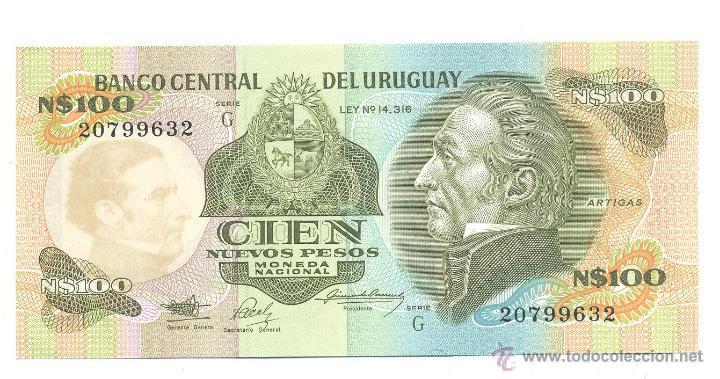 BILLETE URUGUAY (Numismática - Notafilia - Billetes Extranjeros)