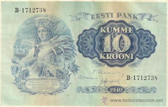 ESTONIA. 10 KROONI 1940. 3 PIEZAS. S/C. 3 X PICK 68. VER DESCRIPCIÓN, IMÁGENES. (Numismática - Notafilia - Billetes Internacionales)