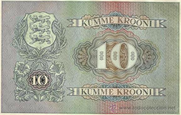 Billetes extranjeros: ESTONIA. 10 krooni 1940. 3 piezas. S/C. 3 x Pick 68. Ver descripción, imágenes. - Foto 2 - 43573687