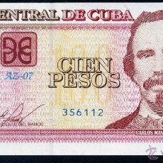 Billetes extranjeros: CUBA 100 PESOS 2013 - SIN CIRCULAR . Lote 118979139
