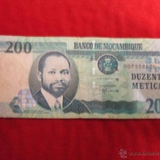 Billetes extranjeros: 200 METICAIS MOZAMBIQUE. Lote 43721761