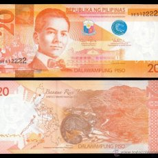Billetes extranjeros: FILIPINAS 20 PISO 2013 PICK 206C NUEVO SC UNC. Lote 254671825