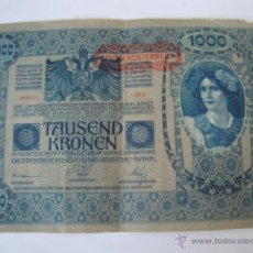 Billetes extranjeros: BILLETE AUSTRO - HUNGRIA TAUSEND KRONEN - 1000 KORONAS. LOTCREVI250. Lote 44703089