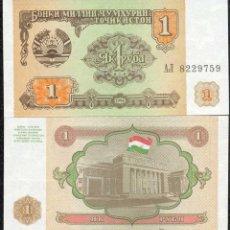 Billetes extranjeros: TAYIKISTÁN 1 RUBLO 1994 PICK#1 SC. Lote 195517206