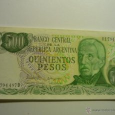 Billetes extranjeros: BILLETE SIN CIRCULAR 500 PESOS BANCO CENTRAL REP.ARGENTINA. Lote 44925541