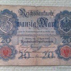 Billetes extranjeros: BILLETE ALEMANIA. 20 MARCOS. 1910. Lote 44936645