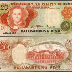 Billetes extranjeros: FILIPINAS - 20 PISO - SIN FECHA (1970) - S/C. Lote 162505897