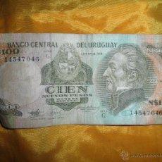 Billetes extranjeros: BANCO CENTRAL DEL URUGUAY. 100 NUEVOS PESOS. ARTIGAS *. Lote 45504046