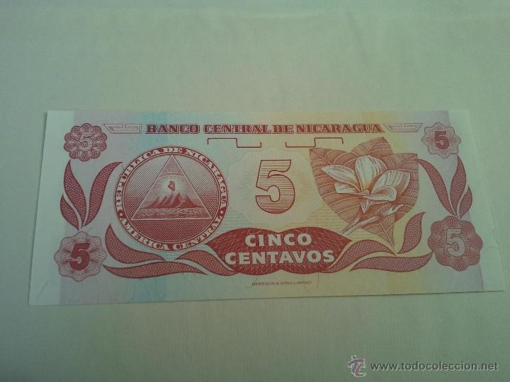 Internationale Banknoten: billete de nicaragua de 5 centavos de cordoba sin circular plancha - Foto 2 - 45645560