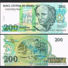 Billetes extranjeros: BRASIL 200 CRUCEIROS 1990 PICK 229 SC BRAZIL CRUZEIROS BILLETE BANKNOTE. Lote 46584435