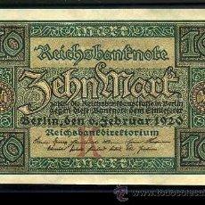 Billetes extranjeros: ALEMANIA 10 MARKOS DE 1920 SC- ( BILLETE CLASICO ) Nº1. Lote 218342292