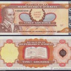 Billetes extranjeros: HAITI 20 GOURDES 2001 PICK 271AA SOLO UNA NUMERACION DE SERIE SC UNC. Lote 255939140