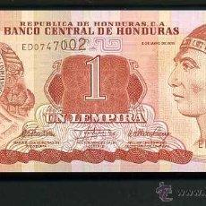 Billetes extranjeros: HONDURAS 1 LEMPIRA DEL 2010 SC SERIE E ( INDIO LEMPIRA VALIENTE ) Nº1. Lote 159161957