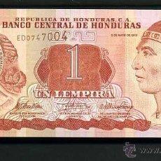 Billetes extranjeros: HONDURAS 1 LEMPIRA DEL 2010 SC SERIE E ( INDIO LEMPIRA VALIENTE ) Nº3. Lote 159153414