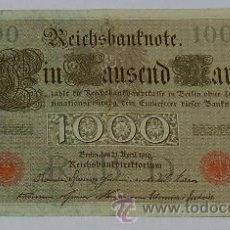 Billetes extranjeros: BILLETE DE 1000 MARCOS ALEMANES 1910, BUEN ESTADO.. Lote 47565504