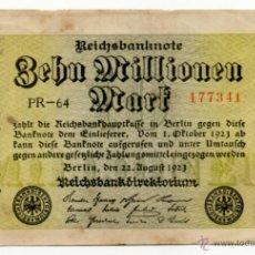 Billetes extranjeros: BILLETE DE 10 MILLONES DE MARCOS ( ALEMANIA ) 1923. Lote 62481736