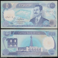 Billetes extranjeros: IRAK IRAQ 100 DINARS SADDAM HUSSEIN 1994 PICK 84 SC UNC. Lote 143562142