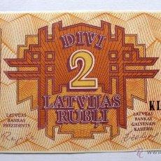 Billetes extranjeros: 2 LATVIJAS RUBLI DE LETONIA DEL 1992. Lote 48210322