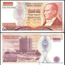 Billetes extranjeros: TURQUIA - 20000 TURK LIRASI - SIN FECHA (1995) - S/C. Lote 117094764