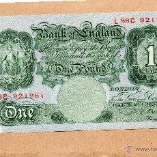 Billetes extranjeros: BILLETE ONE POUND BANK OF ENGLAND. UNA LIBRA ESTERLINA. REINO UNIDO. INGLATERRA. GRAN BRETAÑA. FOTOS. Lote 48611556