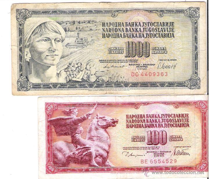 REPUBLICA DE JUGOSLAVIJE *100 Y 1000 DINARA* (Numismática - Notafilia - Billetes Extranjeros)