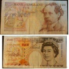 Billetes extranjeros: GRAN BRETAÑA INGLATERRA 10 LIBRAS POUNDS 1993 IMAGEN AMBAS CARAS. Lote 48896831