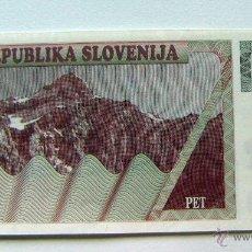 Billetes extranjeros: ESLOVENIA SLOVENIA 5 TOLARJEV 1990 SC. Lote 49163660