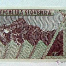 Billetes extranjeros: ESLOVENIA SLOVENIA 5 TOLARJEV 1990 SC. Lote 49163667
