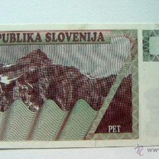 Billetes extranjeros: ESLOVENIA SLOVENIA 5 TOLARJEV 1990 SC. Lote 49163678