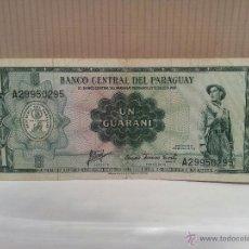 Billetes extranjeros: BILLETE DE PARAGUAY 1 GUARANI USADO. Lote 49182980