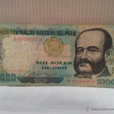 Billetes extranjeros: BILLETE DE PERU 1000 SOLES DE ORO USADO. Lote 49183441