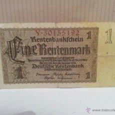 Billetes extranjeros: BILLETE DE ALEMANIA 1 RENTENMARK USADO AÑO 1937. Lote 49184852