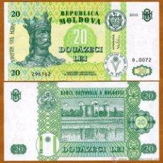 Billetes extranjeros: MOLDAVIA - 20 LEI - AÑO 2010 - S/C. Lote 90655177