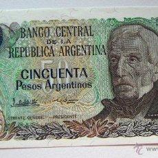 Billetes extranjeros: ARGENTINA. BILLETE DE 50 PESOS ARGENTINOS PLANCHA. Lote 49592881