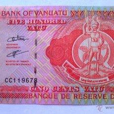 Billetes extranjeros: BILLETES DEL MUNDO . VANUATU . 500 VATU . PLANCHA. Lote 49755463