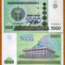 Billetes extranjeros: UZBEKISTAN - 5000 SOM - AÑO 2013 - S/C. Lote 92857375