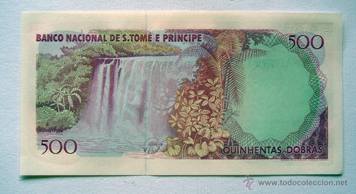 Billetes extranjeros: BILLETES DEL MUNDO . SANTO TOMÉ-PRINCIPE . 500 DOBRAS 1989 . PLANCHA - Foto 2 - 49919059