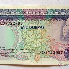 Billetes extranjeros: BILLETES DEL MUNDO . SANTO TOMÉ-PRICIPE . 1000 DOBRAS 1989 . PLANCHA. Lote 49919082