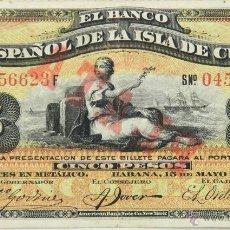 Billetes extranjeros: BI-018 - BILLETE DE 5 PESOS. BANCO ESPAÑOL DE LA ISLA DE CUBA. 1896.. Lote 62404362
