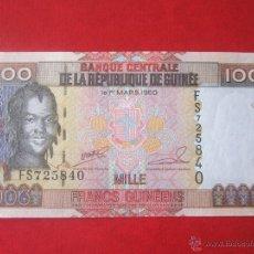 Billetes extranjeros: GUINEA. 1000 FRANCOS. 1960. Lote 50322759