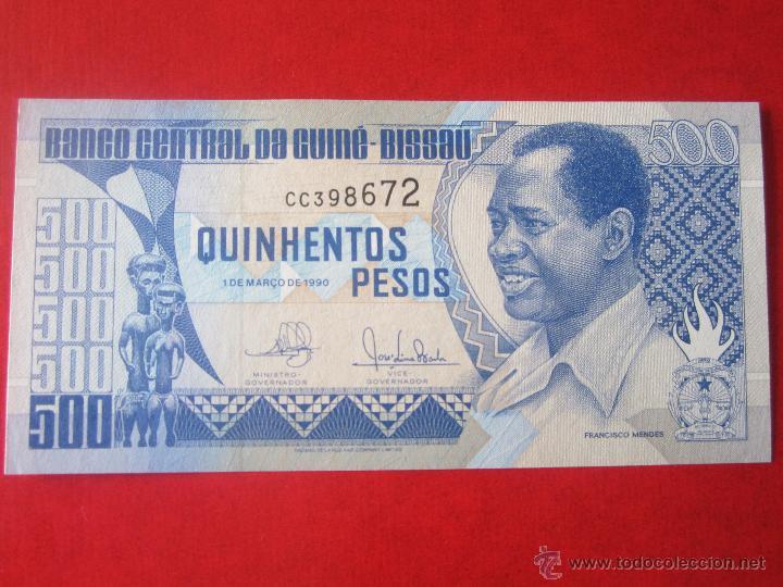 GUINEA BISSAU. 500 PESOS. 1990 (Numismática - Notafilia - Billetes Extranjeros)